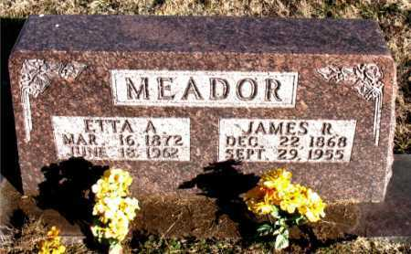 MEADOR, JAMES R. - Carroll County, Arkansas | JAMES R. MEADOR - Arkansas Gravestone Photos