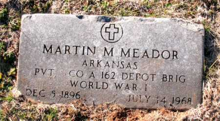 MEADOR  (VETERAN WWI), MARTIN M. - Carroll County, Arkansas | MARTIN M. MEADOR  (VETERAN WWI) - Arkansas Gravestone Photos