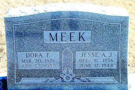 MEEK, JESSE A. J. - Carroll County, Arkansas | JESSE A. J. MEEK - Arkansas Gravestone Photos