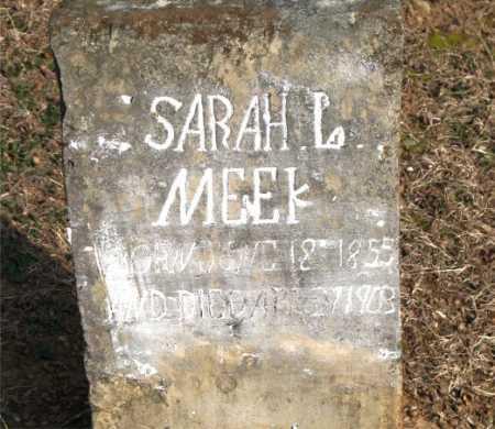 MEEK, SARAH L. - Carroll County, Arkansas | SARAH L. MEEK - Arkansas Gravestone Photos