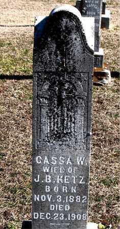 METZ, CASSA W - Carroll County, Arkansas | CASSA W METZ - Arkansas Gravestone Photos