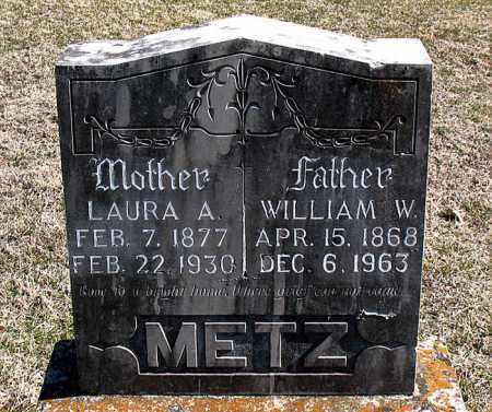 METZ, WILLIAM  W - Carroll County, Arkansas | WILLIAM  W METZ - Arkansas Gravestone Photos