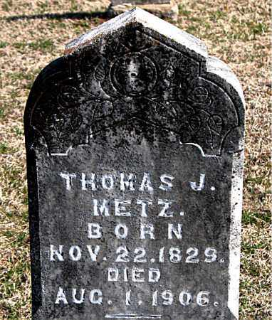 METZ, THOMAS J - Carroll County, Arkansas | THOMAS J METZ - Arkansas Gravestone Photos