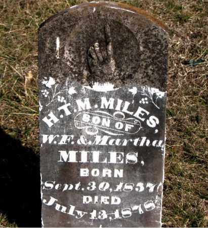 MILES, H T M - Carroll County, Arkansas | H T M MILES - Arkansas Gravestone Photos
