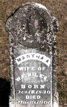 MILES, MARTHA A. - Carroll County, Arkansas | MARTHA A. MILES - Arkansas Gravestone Photos