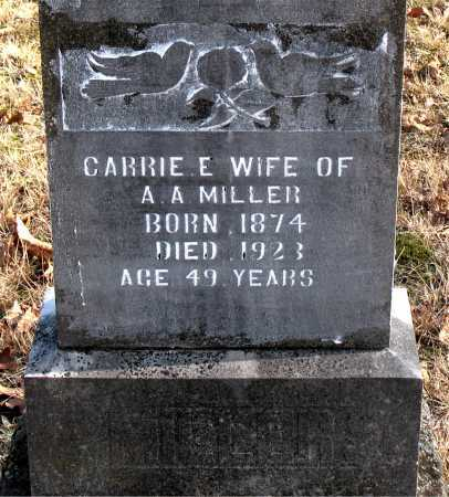 MILLER, CARRIE  E. - Carroll County, Arkansas | CARRIE  E. MILLER - Arkansas Gravestone Photos