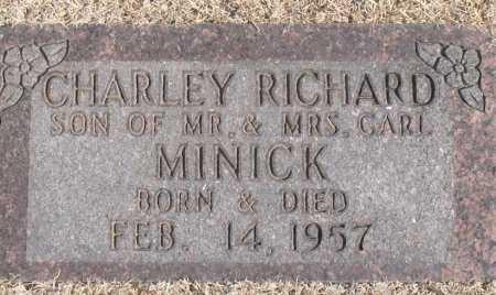 MINICK, CHARLEY  RICHARD - Carroll County, Arkansas | CHARLEY  RICHARD MINICK - Arkansas Gravestone Photos