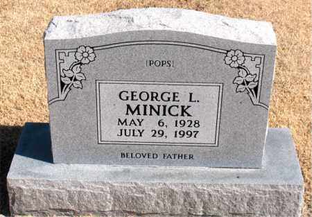 MINICK, GEORGE  L. - Carroll County, Arkansas | GEORGE  L. MINICK - Arkansas Gravestone Photos