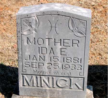 MINICK, IDA E. - Carroll County, Arkansas | IDA E. MINICK - Arkansas Gravestone Photos