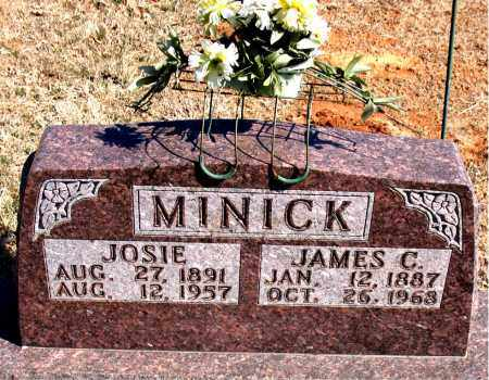 MINICK, JAMES C. - Carroll County, Arkansas | JAMES C. MINICK - Arkansas Gravestone Photos