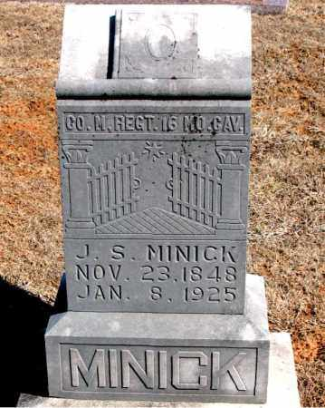 MINICK (VETERAN UNION), JOSEPH S - Carroll County, Arkansas | JOSEPH S MINICK (VETERAN UNION) - Arkansas Gravestone Photos