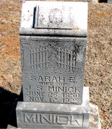 MINICK, SARAH E. - Carroll County, Arkansas | SARAH E. MINICK - Arkansas Gravestone Photos