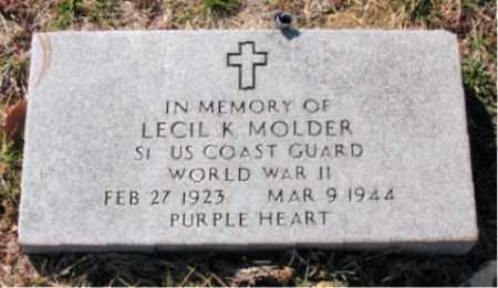 MOLDER  (VETERAN WWII), LECIL K - Carroll County, Arkansas | LECIL K MOLDER  (VETERAN WWII) - Arkansas Gravestone Photos