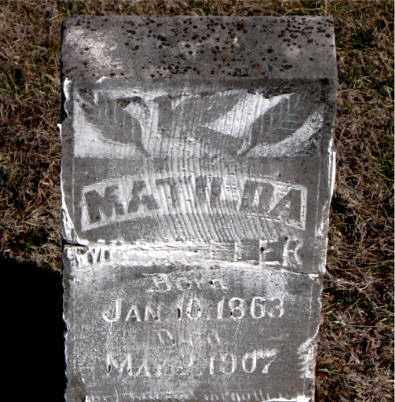 MOLDER, MATILDA - Carroll County, Arkansas | MATILDA MOLDER - Arkansas Gravestone Photos