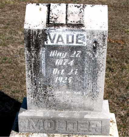 MOLDER, VADE - Carroll County, Arkansas | VADE MOLDER - Arkansas Gravestone Photos