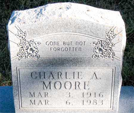 MOORE, CHARLIE A. - Carroll County, Arkansas | CHARLIE A. MOORE - Arkansas Gravestone Photos