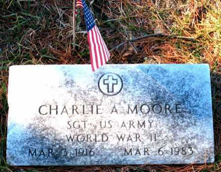 MOORE  (VETERAN WWII), CHARLIE A. - Carroll County, Arkansas | CHARLIE A. MOORE  (VETERAN WWII) - Arkansas Gravestone Photos