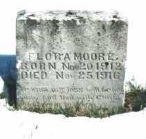 MOORE, FLORA - Carroll County, Arkansas | FLORA MOORE - Arkansas Gravestone Photos