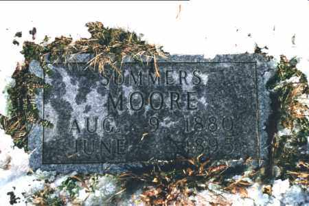 MOORE, SUMMERS - Carroll County, Arkansas | SUMMERS MOORE - Arkansas Gravestone Photos