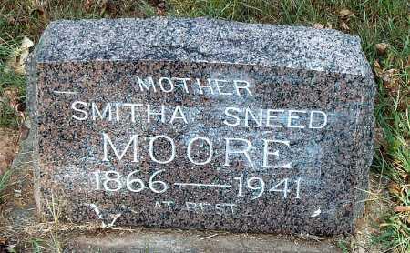 MOORE, SMITHA - Carroll County, Arkansas | SMITHA MOORE - Arkansas Gravestone Photos