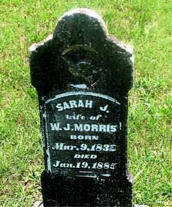 MORRIS, SARAH J - Carroll County, Arkansas | SARAH J MORRIS - Arkansas Gravestone Photos