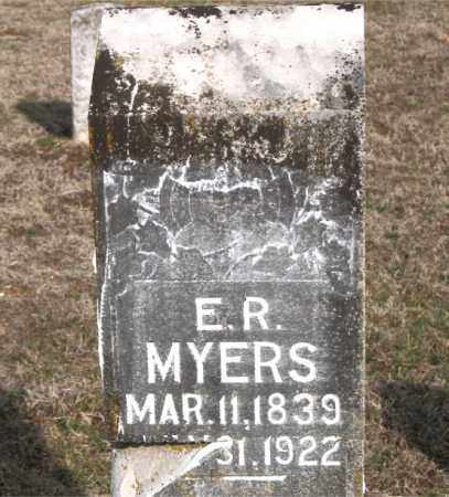 MYERS, E R - Carroll County, Arkansas | E R MYERS - Arkansas Gravestone Photos