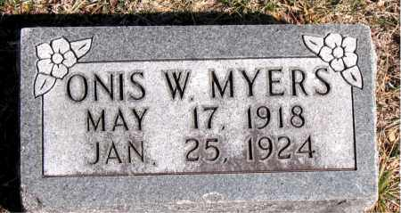 MYERS, ONIS W - Carroll County, Arkansas | ONIS W MYERS - Arkansas Gravestone Photos