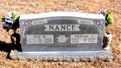 NANCE, VANSAL  J. - Carroll County, Arkansas | VANSAL  J. NANCE - Arkansas Gravestone Photos