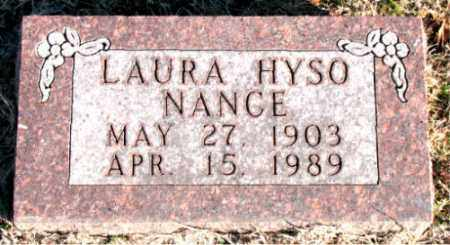 NANCE, LAURE  HYSO - Carroll County, Arkansas | LAURE  HYSO NANCE - Arkansas Gravestone Photos