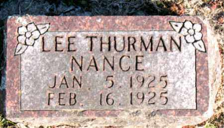 NANCE, LEE  THURMAN - Carroll County, Arkansas | LEE  THURMAN NANCE - Arkansas Gravestone Photos
