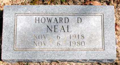 NEAL, HOWARD D. - Carroll County, Arkansas | HOWARD D. NEAL - Arkansas Gravestone Photos
