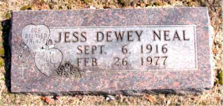 NEAL, JESS DEWEY - Carroll County, Arkansas | JESS DEWEY NEAL - Arkansas Gravestone Photos