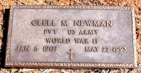 NEWMAN (VETERAN WWII), CLELL M - Carroll County, Arkansas | CLELL M NEWMAN (VETERAN WWII) - Arkansas Gravestone Photos