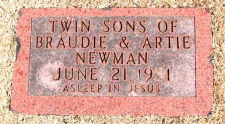 NEWMAN, INFANT SONS - Carroll County, Arkansas | INFANT SONS NEWMAN - Arkansas Gravestone Photos