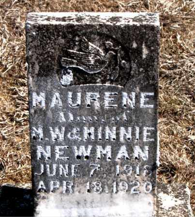 NEWMAN, MAURENE - Carroll County, Arkansas | MAURENE NEWMAN - Arkansas Gravestone Photos