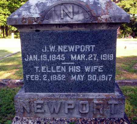 NEWPORT, T. ELLEN - Carroll County, Arkansas | T. ELLEN NEWPORT - Arkansas Gravestone Photos