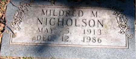 NICHOLSON, MILDRED M. - Carroll County, Arkansas | MILDRED M. NICHOLSON - Arkansas Gravestone Photos