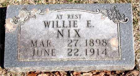 NIX, WILLIE E. - Carroll County, Arkansas   WILLIE E. NIX - Arkansas Gravestone Photos