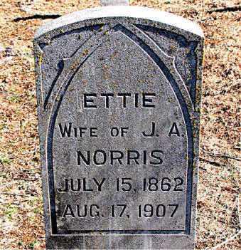 NORRIS, ETTIE - Carroll County, Arkansas | ETTIE NORRIS - Arkansas Gravestone Photos