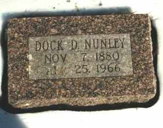 NUNLEY, DOCK D. - Carroll County, Arkansas | DOCK D. NUNLEY - Arkansas Gravestone Photos