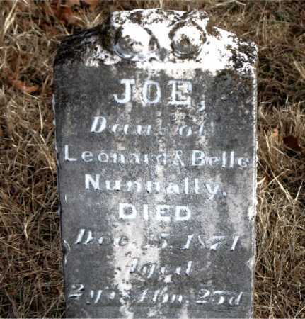 NUNNALLY, JOE - Carroll County, Arkansas | JOE NUNNALLY - Arkansas Gravestone Photos