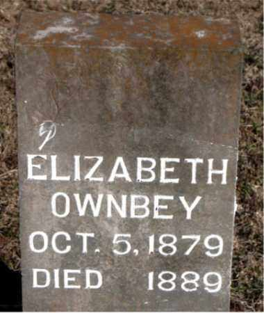 OWNBEY, ELIZABETH - Carroll County, Arkansas | ELIZABETH OWNBEY - Arkansas Gravestone Photos