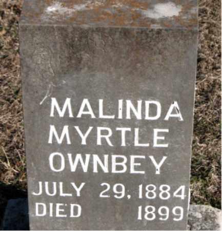 OWNBEY, MALINDA  MYRTLE - Carroll County, Arkansas | MALINDA  MYRTLE OWNBEY - Arkansas Gravestone Photos
