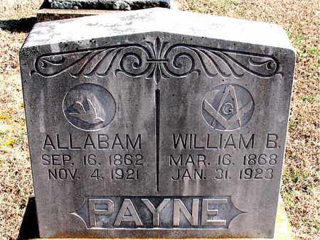PAYNE, ALLABAM - Carroll County, Arkansas | ALLABAM PAYNE - Arkansas Gravestone Photos