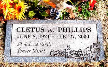 PHILLIPS, CLETUS  A. - Carroll County, Arkansas | CLETUS  A. PHILLIPS - Arkansas Gravestone Photos