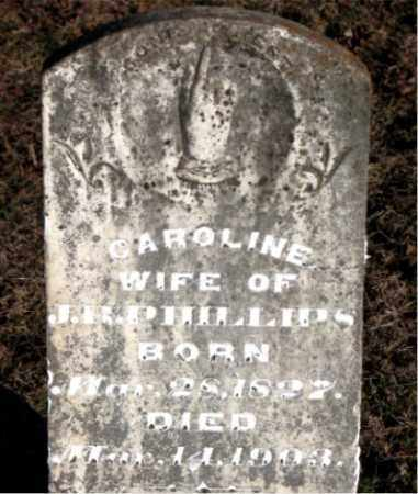 PHILLIPS, CAROLINE - Carroll County, Arkansas | CAROLINE PHILLIPS - Arkansas Gravestone Photos