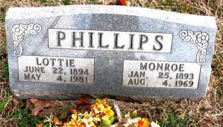 PHILLIPS, MONROE - Carroll County, Arkansas | MONROE PHILLIPS - Arkansas Gravestone Photos