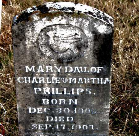 PHILLIPS, MARY - Carroll County, Arkansas | MARY PHILLIPS - Arkansas Gravestone Photos