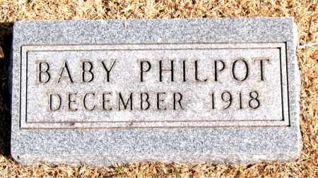 PHILPOT, INFANT - Carroll County, Arkansas | INFANT PHILPOT - Arkansas Gravestone Photos