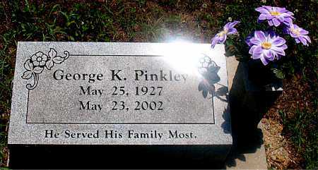 PINKLEY, GEORGE K - Carroll County, Arkansas | GEORGE K PINKLEY - Arkansas Gravestone Photos